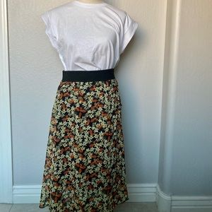 Lola LuLaRoe MIDI Floral Skirt NWT
